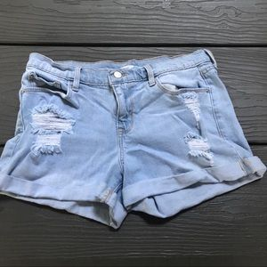 ☀️ Old Navy light wash ripped jean shorts 🇺🇸
